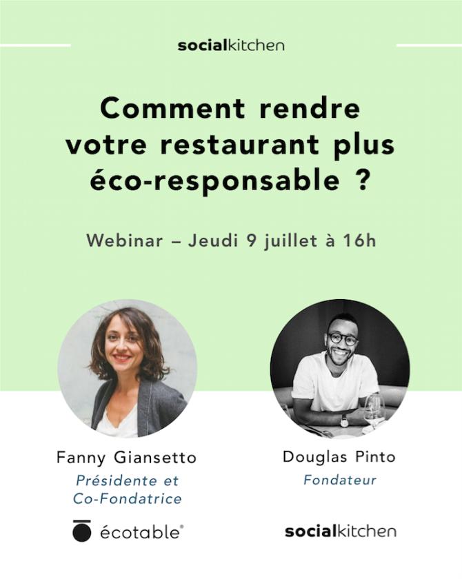 Webinar - Comment rendre votre restaurant plus écoresponsable ?